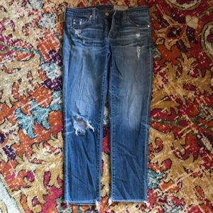 AG cropped skinnies